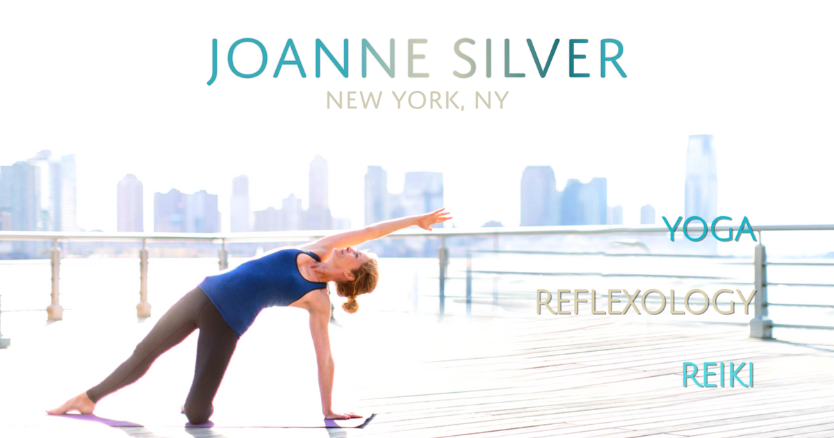 Joanne Silver for Private Yoga Reflexology Reiki Sessions in